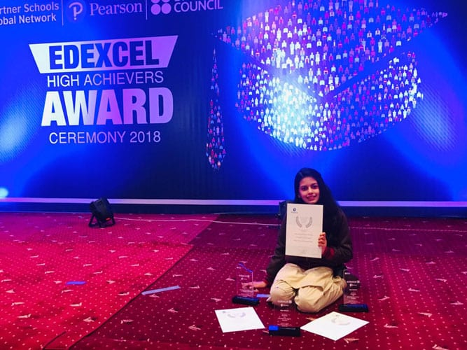 Dua Imran Sets An Example Of Excellence, Bags 3 Edexcel High Achievers Awards!
