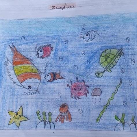 Life Under Water Art by Zargham Haider